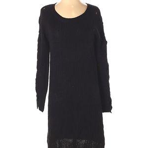 NWOT Alya Chunky Knit Sweater Dress Black S midi